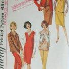 Simplicity 5574 misses blouse jumper pants skrit size 14 B34 vintage 1964 pattern