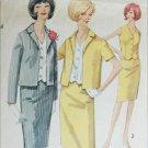 Simplicity 5358 misses suit skirt jacket vest size 12 B32 vintage 1964 pattern