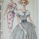 Simplicity 3422 misses dress size junior 13 B33 vintage 1950s sewing pattern