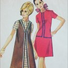 Simplicity 8910 vest coat dress misses size 14 B36 sewing 1970 pattern