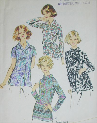 Simplicity 5359 misses blouse set size 16 B38 vintage 1972 sewing pattern