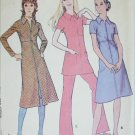 McCall 2941 misses dress tunic pants size 14 B36 vintage 1971 sewing pattern