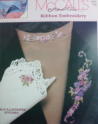 McCall Ribbon Embroidery leaflet 6 easy designs craft booklet