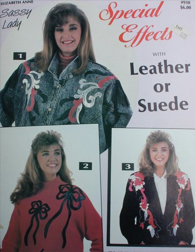 Craft booklet adding Leather or Suede to garments patterns craft instructions