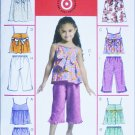 McCall M5308 girls summer tops dresses shorts capri pants sizes 3 4 5 6 UNCUT pattern