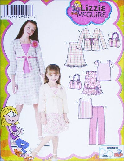 Simplicity 4669 girls top skirt pants jacket bag sizes 3 4 5 6 UNCUT pattern