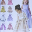 Simplicity 4337 girls party dress sleeveless long short sleeves UNCUT sizes 3 4 5 6