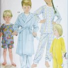 Simplicity 5874 UNCUT sewing pattern childs robe footed sleeper PJs sizes 3 4 5 6