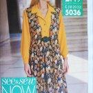 Butterick 5036 UNCUT sewing pattern misses shirt ves skirt sizes 18 20 22