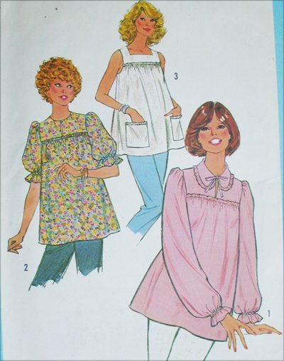 Simplicity 8606 maternity sewing patttern size 12 B34 misses blouse