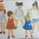 Simplicity 8313 girl toddler dress shorts tops size 2