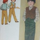 Simplicity 9631 boys pants shirt vest size 6 sewing pattern