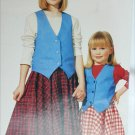 McCall 6644 girls skirt vest top sizes 4 5 6 sewing pattern