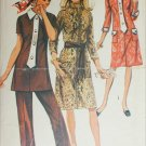 Simplicity 9170 misses dress tunic pants size 18 B40 retro 1970 sewing pattern