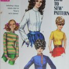 Simplicity 7734 blouse size 12 B34 vintage 1968 sewing pattern