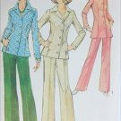 Simplicity 6229 misses shirt jacket pants size 18 B40 vintage 1974 sewing pattern