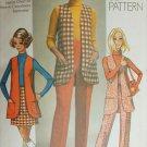 Simplicity 8917 misses vest mini skirt pants size 18 B40 vintage 1970 pattern