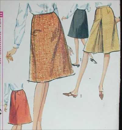 Simplicity 6091 misses set of skirt size waist 28 sewing pattern
