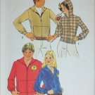 Simplicity 7207 mans hooded sweatshirt size small 34 to 36 sewing pattern