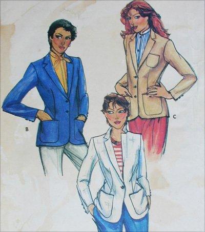 Butterick 6998 misses blazer jacket size 14 B36 sewing pattern