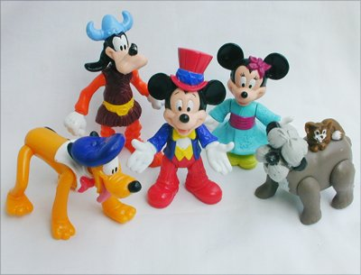 Disney figurine Epcot Center from McDonald Happy Meals Mickey Minnie Pluto Goofy