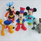 Disney figurine Epcot Center from McDonald Happy Meals Mickey Minnie Pluto Goofy