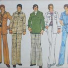 Simplicity 7314 retro mans leisure suit jacket 32 to 33 1/2 pants