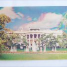 3D postcard vintage White House Washington, DC circa 1970 overlarge thick