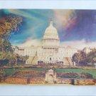 3D postcard vintage Capital Building Washington DC circa 1970 overlarge thick