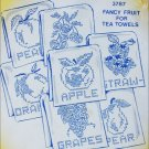 Cross stitch embroidery hot iron transfers 6 fruit Aunt Martha's apple peach pear