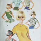 McCall 6749 womans blouse size 16 B36 vintage 1963 sewing pattern
