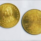 Thomas Jefferson brass commemorative coin token
