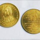 Thomas Jefferson brass commemorative coin token