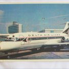 Delta Air Lines post card  DC 9 Fan Jet picture postcard used mailed 1967