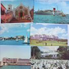 6 Bermuda souvenir postcards St Peter Church Ocean Monarch ship sailboats