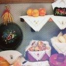 Cross stitch bread cloths covers IV leaflet 9 designs Harriette Tew