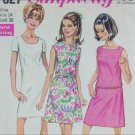 Simplicity 7627 misses jiffy dress size 14 B36 vintage 1968 pattern