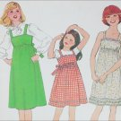 Simplicity 8362 girls dress jumper size 12 B30 vintage 1978 pattern