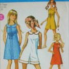 Simplicity 8262 misses size 11 12 B32 dress mini pant dress vintage 1969 pattern