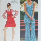 Simplicity 5520 mini dress bell bottom pants size 16 B38 vintage 1973 pattern