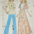 Simplicity 6931 retro misses dress or top size 8 10 vintage 1975 pattern