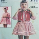 Advance 3136 vintage childs dress size 2 sewing pattern