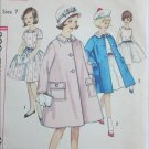 Simplicity 4332 girls dress coat size 7 B25 vintage 1962 sewing pattern