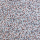 Cotton quilting fabric brown and rust mini floral print 44 inches