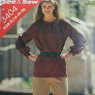 Butterick 3404 misses top pants sizes 14 16 18 sewing pattern