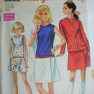 Simplicity 8098 misses culotte dress and jacket size 18 B40 vintage 1969 sewing pattern
