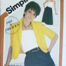 Simplicity 5836 misses summer dress jacket sizes 10 12 14 UNCUT sewing pattern