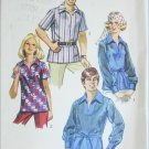 Simplicity 8711 misses or mens shirt size 16 bust 38 retro  sewing pattern