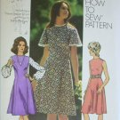 Simplicity 9850 misses retro dress size 14 bust 36 vintage 1971 patttern