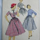 Advance 6831 vintage 1950s dress pattern size 10 bust 28 sewing pattern